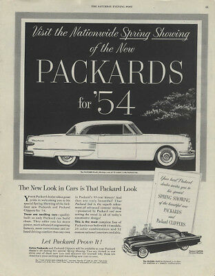 Nationwide Spring Showing Packard Pacific Clipper Panama ad 1954