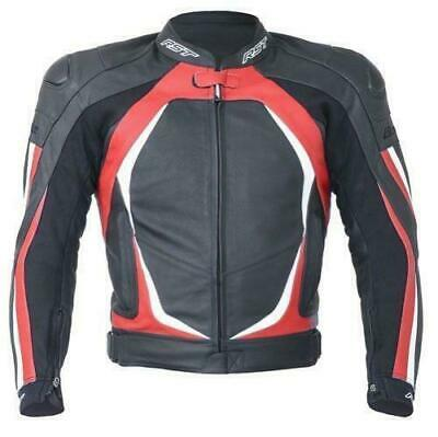 RST Blade 2 Leather Motorcycle Motorbike Jacket 1845 Red CE Level 2 Back Armour