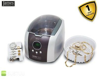 James Products ULTRA7000S Digital Ultrasonic Jewellery & Spectacle Cleaner Grey