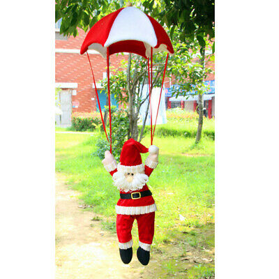 Merry Christmas Santa Claus Doll Parachute Xmas Tree Hanging Decoration Gift