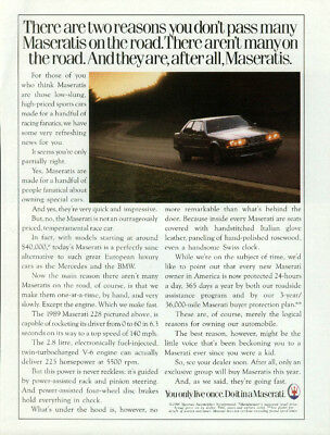 Two reasons you don't pass many on the road Maserati 228 ad 1989