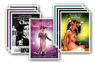 CHER - 10 promotional posters  collectable postcard set # 3