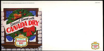 Special Times with Canada Dry cardboard store sign 1980s unused Christmas motif