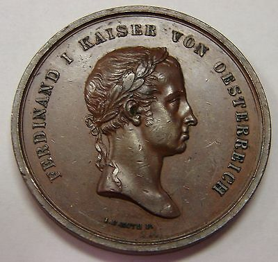 Austria - 1843 - Medal for Completion of St. Stephens Tower in Vienna - 47mm
