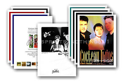 COCTEAU TWINS - 10 promotional posters  collectable postcard set # 1