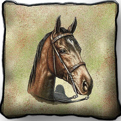 "17"" x 17"" Pillow - Tennessee Walking Horse 1733"