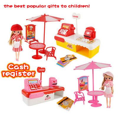 Kids Cash Register & Accessories Food & Money Supermarket Shopping Pretend Toy
