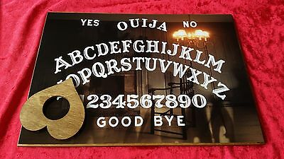 Wooden Ouija Board Game magic Spirit Chair & Planchette ghost hunt Instructions