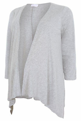 YoursClothing Plus Size Womens Bump It Up Maternity Waterfall Cardigan Grey