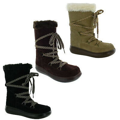2b3605b443ff3 Rocket Dog Snowcrush Suede Uppers Fur Lined Soft Ankle Boots Warm Ladies  Fashion