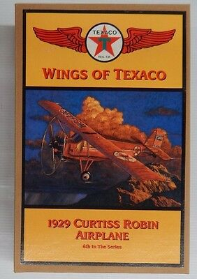 Wings of Texaco 1929 CURTISS ROBIN AIRPLANE 6th In The Series Coin Bank - NIP
