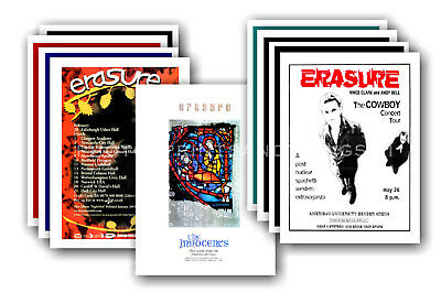 ERASURE - 10 promotional posters  collectable postcard set # 1