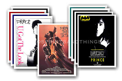 PRINCE - 10 promotional posters  collectable postcard set # 11