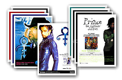 PRINCE - 10 promotional posters  collectable postcard set # 13