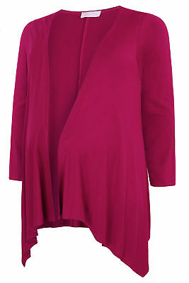 YoursClothing Plus Size Womens Ladies Maternity Magenta Waterfall Cardigan Pink