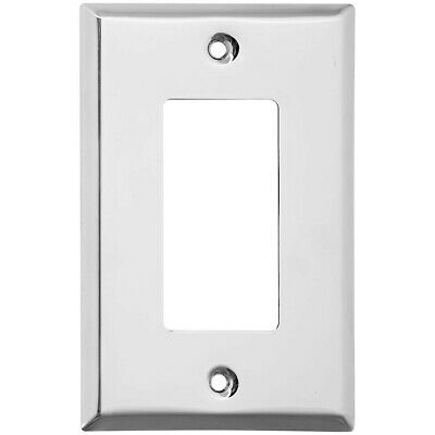 Single Rocker Or GFI Wall Plate Bright Chrome