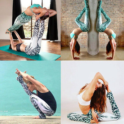 Womens YOGA Gym Sports Leggings Running Fitness Pants Stretch Workout Trousers