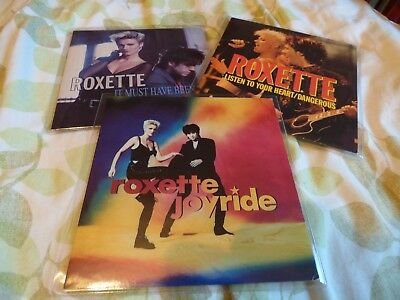 "ROXETTE - JOB LOT / SET / COLLECTION OF 3 7"" VINYL SINGLES FROM 1990's"