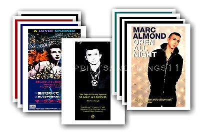 MARC ALMOND - 10 promotional posters  collectable postcard set # 3