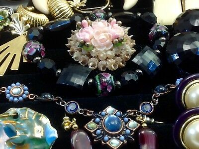 Large Lot Of Vintage~Now Costume Jewelry Dalsheim, Allison Reed, Monet.. (E333)