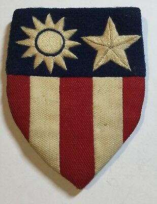 Original WWII US Army Air Corps CBI Theater-Made Shoulder Patch With Snaps MINTY