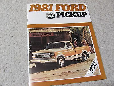 1981 Ford Pickup (Usa) Sales Brochure...
