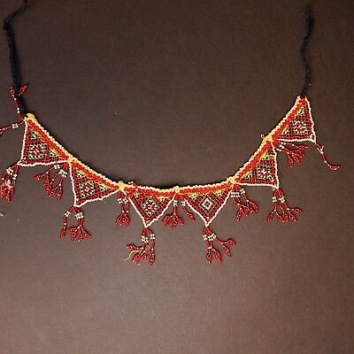 Belly Dance ATS Tribal Beaded NECKLACE Kuchi Afghani 809y3