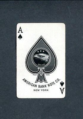 SPADE ACE: American Bank Note Co.  ALICE IN WONDERLAND - 1 Single Playing Card