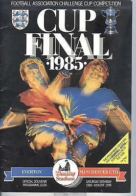 Everton FC v Manchester United FA Cup Final 1985 PROGRAMME - POSTFREE to UK