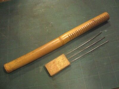 BAMBOO GUIRO hand held PERCUSSION