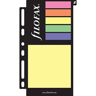 FILOFAX Sticky Notes Assorted Colors, Color May Vary, Multi-Fit (B130136)