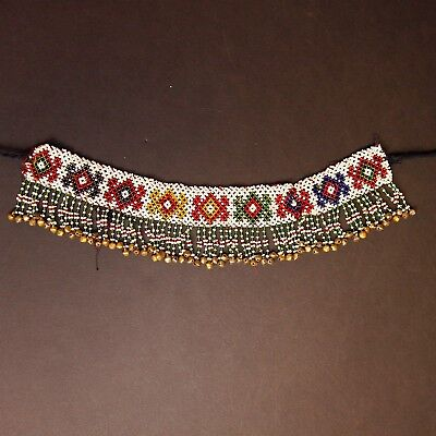 BellyDance ATS Costume Beaded NECKLACE Kuchi Tribe 811u10