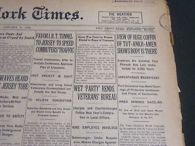 1924 January 5 New York Times - View Of Coffin Of Tut-Ankh-Amen - Nt 6806