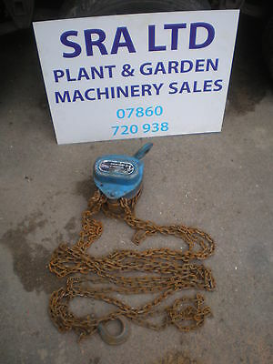 Hackett 1 Ton Chain Hoist Block 3.0 Metre Lift Other Types In Stock Lot 12
