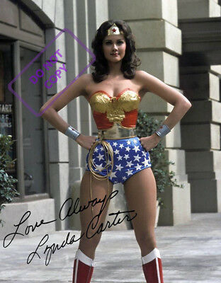 REPRINT RP 8x10 Signed Autographed Photo: Lynda Carter WONDER WOMAN