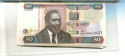 Kenya 2010 50 Shillings Currency Note  Lot Of 5 Cu 2928J