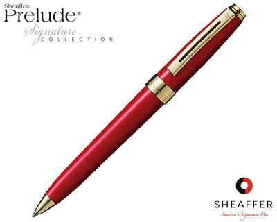 Sheaffer Prelude Signature Red Laque G/T Ballpoint Pen NOW $24.95