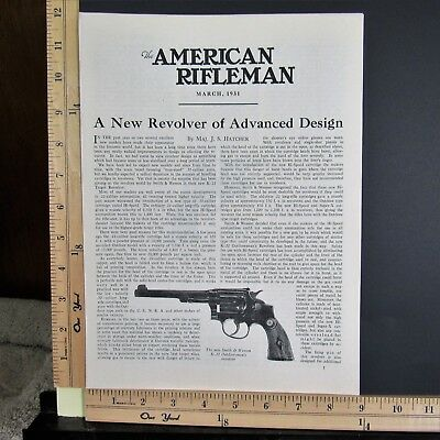1931 SMITH & WESSON New K-22 revolver 3-Page J S Hatcher Magazine Article 9252