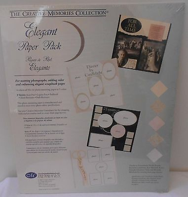 "Creative Memories Photo Mounting 10x12 Paper Pack ""Elegant"" 5 COLOR 10 Sheet NIP"