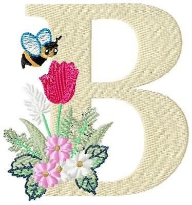 Buzz Alphabet 26 Machine Embroidery Designs Letter Height 4Inch