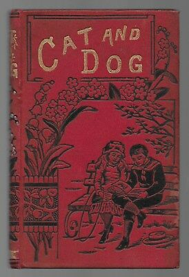 Cat And Dog Memoirs Of Puss And The Captain Antique Illustrated Book 1886 1st Ed