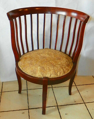 Mahogany Corner / Bustle Rib Cage Chair / Parlor Chair  (AC15)