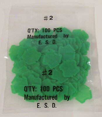 Lot of 100 Green Type 2 Laundry Tokens Tokettes Type II GI - Factory Sealed Bag
