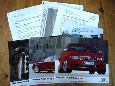 Audi S4 press releases and photos, 1999-2005, rare, excellent condition