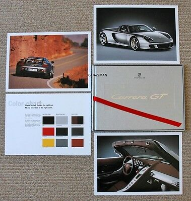 Rare Porsche Carrera Gt Owner's Book 2003 Prestige Brochure New/sealed!