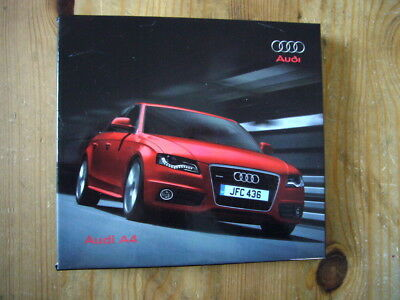 Audi A4 press kit with 2 CDs & 2 booklets in box, excellent, 2008