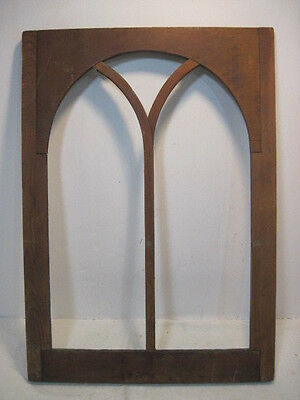 Old Vintage Antique Church Wood Frame For A Stained Glass Window