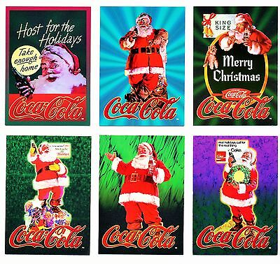 Coca Cola Super Premium Santa (Series 5) Embossed 6 Card Subset - 1995 NEW