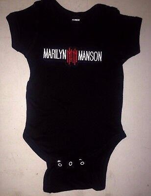 Marilyn Manson Baby One Piece Creeper T-Shirt Rock New Metal