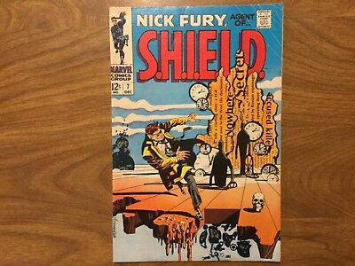 Nick Fury Agent Of Shield 7 Frank Springer 1968 Jim Steranko Cover Art